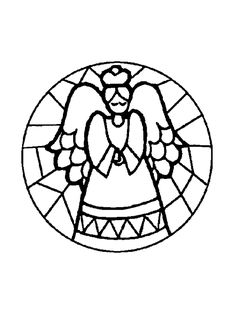 Coloring page : Prayer angel stained glass - Coloring.me