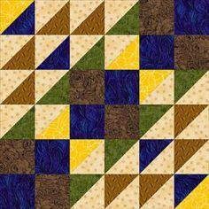 """Free Quilt Block Patterns, A Through E: 12"""" Cut Glass Dish Quilt Block Pattern"""