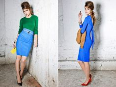 the blue! the green! the skirt! The dress! DSquared Pre-Fall 2012