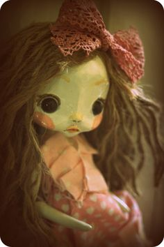 OOAK Shabby Romantic jointed Art Doll by TheDollAndThePea on Etsy