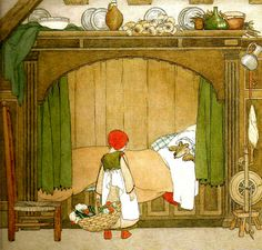 Little Red and the wolf, by Henriette Willebeek le Mair
