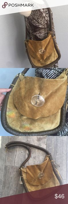 Beautiful  boho bag. Beautiful bohemian bag great for a summer day! 100% handmade with real leather from repurposed jacket. boutique  Bags Hobos