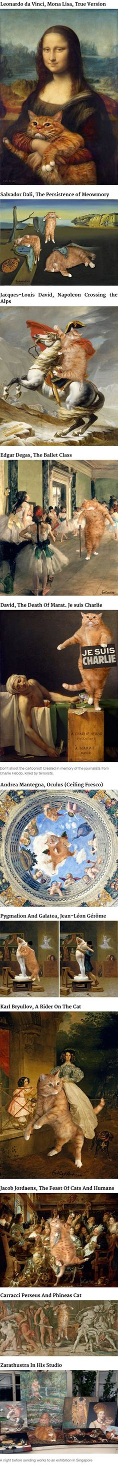 Artist Inserts Her Ginger Cat Into Famous Paintings (By Svetlana Petrova)