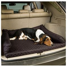 Snoozer SUV Quilted Dog Bed & Cargo Mat - Nice, Comfy Bed Gives Your Dog a Place to Rest in Your Vehicle - Great for Long Trips! - Keeps Dog Dirt & Hair Off Carpet - Cross Peak Products Bench Seat Covers, Portable Bed, Dog Area, Dog Varieties, Dog Car Seats, Thing 1, Comfy Bed, Dog Carrier, Bed Sizes