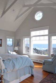 This coastal cottage is perched just a bit above the ocean that has carved out the rugged Maine coastline. The interior is a haven where the residents watch the ocean . Read moreA Quiet Cottage on a Craggy Coast Beach Cottage Style, Coastal Cottage, Beach House Decor, Coastal Style, Coastal Decor, Modern Coastal, Cottage Art, Cottage Living, Beach House Rooms