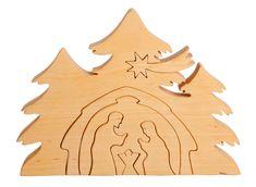 Krippenmotiv als Puzzle Material: Erle Verarbeitung: Handarbeit Höhe, Form und Farbe können aufgrund der Beschaffenheit des Holzes (Naturmaterialien) minimal unterschiedlich ausfallen Ausführungen:...