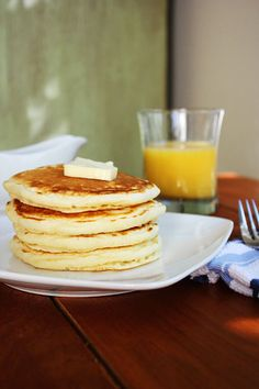 Perfect Pancakes. Light and fluffy with great flavor.