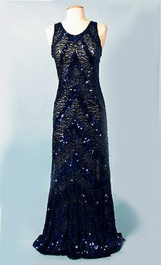 Sequin evening dress c. 1930