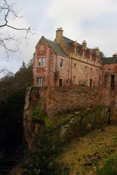 Hawthornden Castle is located on the River North Esk in Midlothian, Scotland