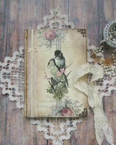 Lovely birds diary journal notebook tagebuch by BethStyleBook