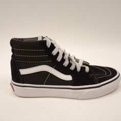 03e5b151860 New Vans Toddler Kids Solid Black Classic Lace Up High Top Sneaker Shoes  Size 3