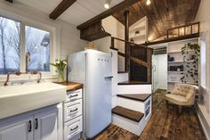 A luxury 273 square feet tiny house on wheels built by Mint Tiny Homes in British Columbia, Canada.
