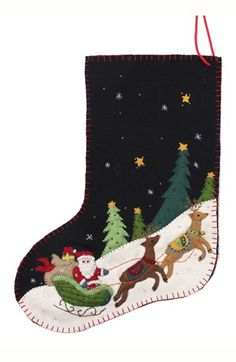 New World Arts Santa on Sleigh Stocking available at #Nordstrom