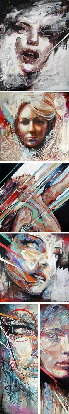 Paintings by Danny O'Connor / art / portrait / acrylic / amazing / painting