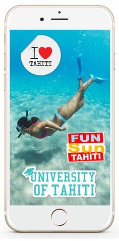 polynesie sticker photographie decor lagon turquoise tikehau kawai mega fun