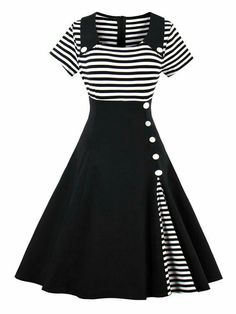 Pin Up Dresses, Dresses Online, Dress Outfits, Fashion Dresses, Cute Outfits, Ladies Dresses, Dress Shoes, Cheap Dresses, Fashion Clothes