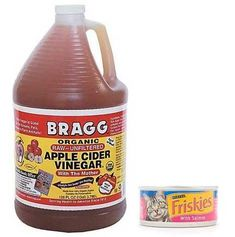 Help cats cure a urinary tract infection. Pour a 1/2 Tbsp of Apple Cider Vinager over canned cat food twice a day. Also you can add a couple drops to their water.