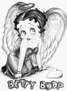 Betty Boop Angel tattoo