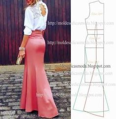 ideas skirt pattern easy simple for 2019 Best Picture For Skirt diy For Your Taste You are looking for something, and it is going to tell you exactly what you are looking for, and you didn' Skirt Patterns Sewing, Vintage Dress Patterns, Clothing Patterns, Pattern Skirt, Pattern Sewing, Mermaid Dress Pattern, How To Make Skirt, Formal Skirt, Formal Dresses
