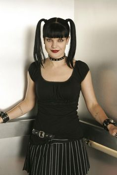 Pauley Perrette! Her character Abby is smart & dosen't give up her identity.