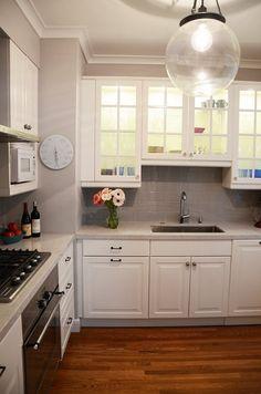 porta de vidro, iluminação interna de armário da cozinha