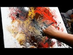 Abstract Painting Demo Acrylics using brush, knife and masking tape - Davidian - John Beckley - YouTube