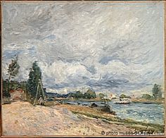 Alfred Sisley The Loing edges between 1878 and 1879