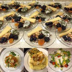 Dinner From Nathalie & Brooke's Wedding- Cheese Course, Pasta Marinara, Sea Bass w/ Fennel, Heirloom Tomato & Artichoke Relish, Root Vegetable Purée, Italian Salad