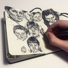 Other 2 pages from my notebook project #art #artist #drawing #sketch #pages #ink #study #practice #composition #pen #ballpoint #ballpointpen #hand #progress #moleskine #notebook #sketchbook #faces #vintage #realism #graphic #illustration #blackandwhite #monochrome #marco