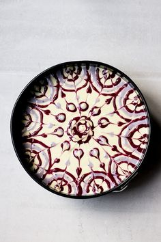 Raw passion fruit swirl cake