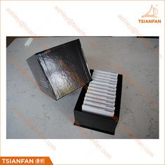 Marble and granite stone sample box for exhibition showing.