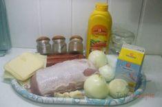 Zubereitung des Rezepts Überbackene Schweineschnitzel aus dem Backofen, schritt 1 Sausage, Dairy, Cheese, Meat, Pork Cutlets, Square Cakes, Top Recipes, Side Dishes, Oven