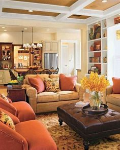 Warm Family Room Colors : Good Family Room Colors for The Walls – Better Home . - Warm Family Room Colors : Good Family Room Colors for The Walls – Better Home and Garden - Living Room Warm, House Interior, Room Set, Chic Living Room, Home, Country Living Room, Rustic Chic Living Room, Family Room Colors, Family Room