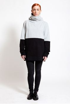 A unique two-toned sweatshirt by Greek Label DIG ATHENS, will keep you warm and stylish at the same time.Check it at www.ozonboutique.com Athens, Style Me, Greek, Label, Stripes, Turtle Neck, Warm, Unisex, Stylish
