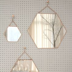 small hexagon shaped copper mirror by posh totty designs interiors… Western Mirror, Halloween Kitchen Decor, Copper Bedroom, Living Room Decor, Bedroom Decor, Mirror For Bedroom, Living Rooms, Wall Decor, Copper Mirror