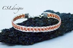 Two colour flat wire kumihimo bracelet