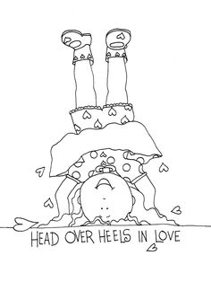 Free Dearie Dolls Digi Stamps: Head over heels in Love girl