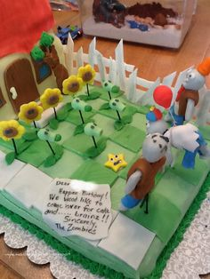 Birthday Cake for our Plants versus Zombies fan!