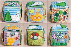 Сшился очередной кубик) Раньше он был исключительно летне-весенним. В этом же, по желанию заказчицы, появилась и зимняя страничка) ПисАть много не буду, на фото всё видно. Как всегда, старалась использовать как можно больше различных материалов и фактур) 1)2)3)4)  5)6) Ну вот как-то так) Спасибо, что досмотрели до конца) Sewing For Kids, Baby Sewing, Cube Bebe, Baby Cubes, Baby Sensory Play, Baby Quiet Book, Felt Quiet Books, Fabric Toys, Developmental Toys