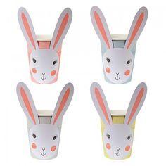 Multi Coloured Easter Bunny Cups   Meri Meri