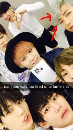 Namjoon ain't doing jamless shit with you people.