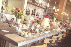 The full desserts bar! #wedding