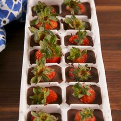 Chocolate Covered Strawberry Cubes