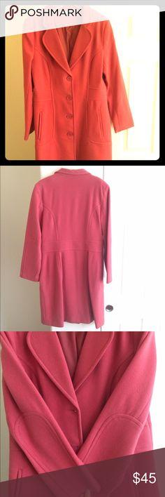 ❄️WOOL COAT❄️ Beautiful wool coat (82% wool 19% Nylon) in an old rose/antique rose color. Never been worn-NWOT. Made in Mexico--US size 13 European size 36 and I would say fits a L/XL. I will post measurements as soon as possible.  Perfect condition. Livylu Jackets & Coats