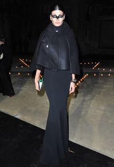 Giovanna Battaglia looking immaculate at the Paris MAC-party hosted by Carine Roitfeld.