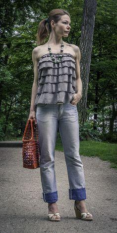 """Top oder Rock """"Vicky"""" mit Rüschen von rote-tulpe auf DaWanda.com"""