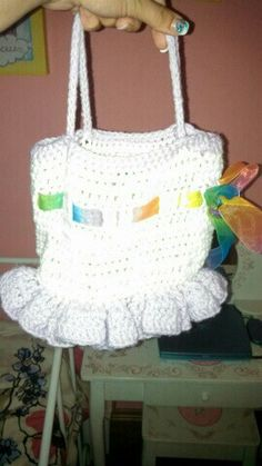 Little ballerina bag I made for Taylor.  Pattern is on my Crochet A Gift For You board.