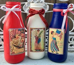 Patriotic Summer Americana Independence Day July 4th Vtg Decorations Decor Vases | Home & Garden, Holiday & Seasonal Décor, July 4th & Summer | eBay!