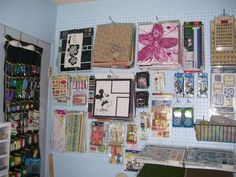 Pegboard for scrapbook organization and storage... I think this will solve all my problems. Bwhahahaha