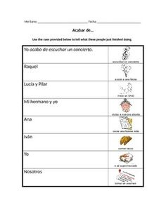spanish tener que infinitive worksheet expressions with infinitives the o 39 jays worksheets. Black Bedroom Furniture Sets. Home Design Ideas